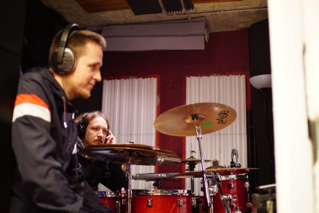 Gitarrenaufnahmen - Daniel und Marius